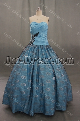 Strapless Sweetheart Satin Plus Size Quinceanera Dress 04702