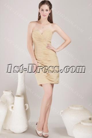 Stylish Sweetheart Club Mini Dress Champagne
