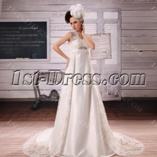 Sweetheart Asymmetrical Satin Lace Wedding Dress With Beadwork Crystal Sequins