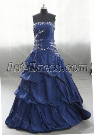 Sweetheart Floor Length Taffeta Quinceanera Dress With Ruffle Beading 02588