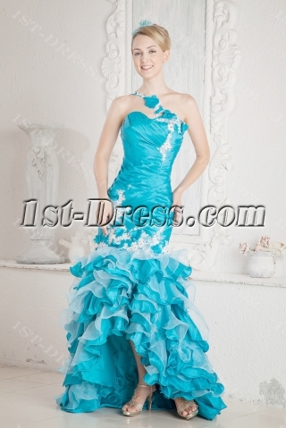 Tasteful One Shoulder Pretty Quinceanera Dress with Slit Front