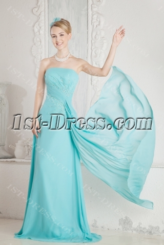 Teal Long Mother of Groom Gown for Beach
