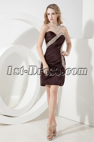 chocolate brown homecoming dresses