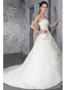 2012 Simple A-line Long Western Wedding Dress 2667:1st-dress.com