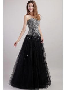 2013 Luxury Black Quinceanera Dresses 1938