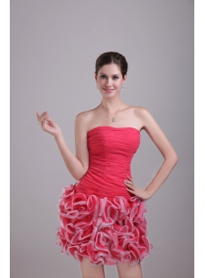2013 Sweet Short Ruffled Quinceanera Dresses 1286