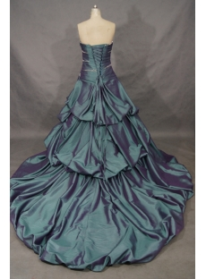 A-Line Ball Gown Princess Bateau Strapless Natural Waist Taffeta Wedding  01518