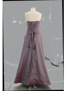 A-Line Ball Gown Strapless Long Floor-Length Taffeta Prom Dress 05457
