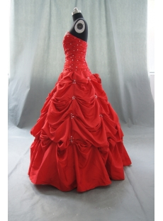 A-Line Ball Gown Strapless Long Floor-Length Taffeta Quinceanera Dress 05117