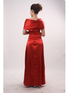 A-Line Bateau Cowl Long / Floor-Length Satin Evening Dress 3821