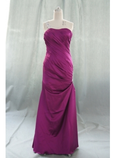 A-Line One Shoulder Long / Floor-Length Elastic Silk-like Satin Prom Dress 05538