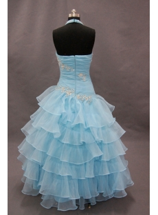 A-Line Princess Halter Floor-Length Organza Quinceanera Dress 02269