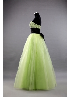 A-Line Princess Strapless Sweetheart Long / Floor-Length Satin Tulle Prom Dress 1421