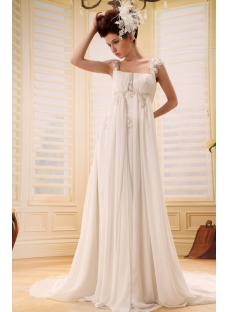 Strapless Chiffon Empire Wedding Dress for Plus Size