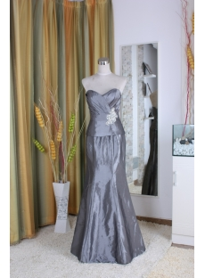 A-Line Strapless High Neck Notched Ankle-Length Taffeta Mother of The Bride Dress 5358