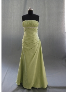 A-Line Strapless Sweetheart Floor-Length Elastic Taffeta Prom Dress 04944