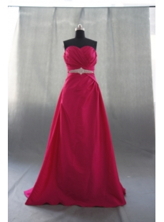 A-Line Strapless Sweetheart Floor-Length Taffeta Prom Dress 05012