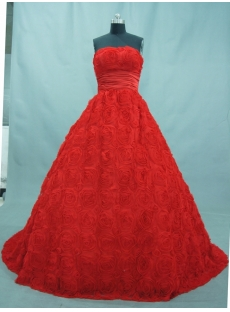 A-Line Sweetheart Sweep Train Lace Quinceanera Dress 03055