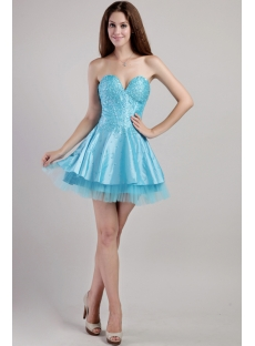 Aqua Blue Super Sweet 16 Dress 2298