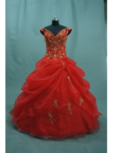 Ball Gown Princess Halter V-Neck Asymmetrical Waist Non-Strapless Satin Plus Size Quinceanera Dress 04855