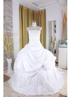 Ball Gown Princess Strapless Floor-Length Taffeta Bridal Gowns 5319