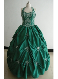 Ball Gown Princess Strapless Long / Floor-Length Taffeta Quinceanera Dress 3478