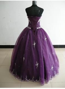Ball Gown Princess Strapless Sweetheart Floor-Length Satin Organza Plus Size Quinceanera Dress 3300