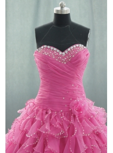 d6b8a4543a7 ... Ball Gown Princess Strapless Sweetheart Floor-Length Satin Organza Quinceanera  Dress 05059 ...
