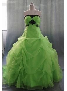 Ball Gown Princess Strapless Sweetheart Floor-Length Satin Organza Quinceanera Dress 05327