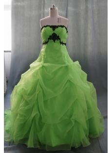 Ball Gown Princess Strapless Sweetheart Floor-Length Satin Organza Quinceanera Dress 05327