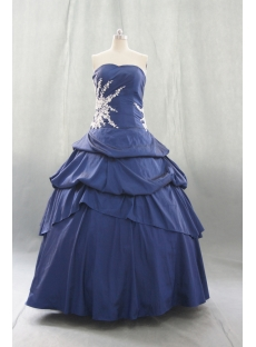 Ball Gown Princess Strapless Sweetheart Floor-Length Taffeta Quinceanera Dress 06409