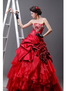 Ball Gown Princess Strapless Sweetheart Long / Floor-Length Satin Organza Quinceanera Dress H2221