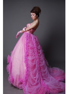 Ball Gown Princess Strapless Sweetheart Long / Floor-Length Satin Tulle Quinceanera Dress y001