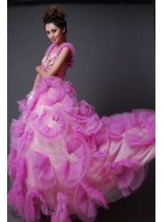 Ball Gown Princess Strapless Sweetheart Long / Floor-Length Satin Tulle Quinceanera Dress y002
