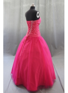 Ball Gown Princess Strapless Sweetheart Long Floor-Length Taffeta Tulle Quinceanera Dress 05441
