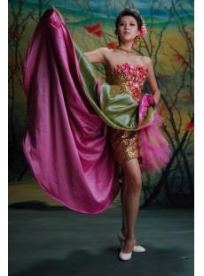 Ball Gown Princess Strapless Sweetheart Short / Mini Taffeta Quinceanera Dress y003