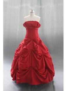 Ball Gown Princess Strapless Sweetheart Taffeta Quinceanera Dress 04365