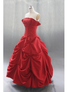 Ball Gown Princess Strapless Sweetheart Taffeta Quinceanera Dress 04365