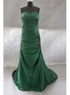 Ball-Gown Strapless Floor-Length Taffeta Prom Dress With Ruffle 02417