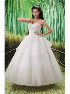 Ball-Gown Sweetheart Court Train Satin Tulle Wedding Dress With Ruffle Lace Beadwork