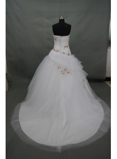 Ball Gown Sweetheart Organza Satin Wedding Dress With Beadwork Sequins 02714