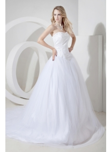 Basque Elegant Sweetheart Bridal Gowns