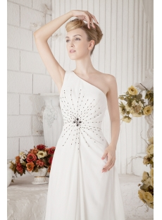 Beaded One Shoulder Military Ball Dress