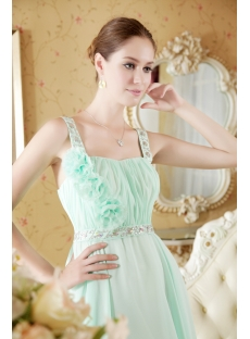 Beautiful Sage Straps Maternity Prom Dress Cheap