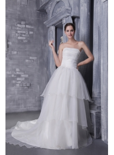 Beautiful Western Ball Gown Wedding Dress with Corset 1191