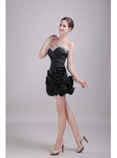 Black Floral Short Sweetheart Sweet 16 Dress 1356