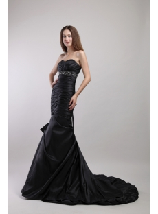 Black Long Sheath Tasteful Graduation Dress for College 1882