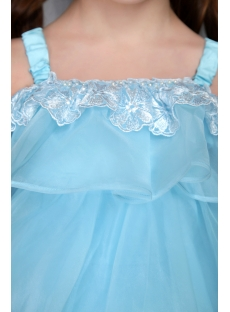 Blue Organza Weddiing Dress Toddlers 2549
