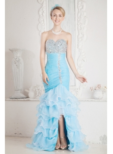 Blue Sheath Luxury Quinceanera Dress 2013
