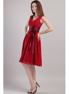 Burgundy Short Stylish Homecoming Dresses 2223